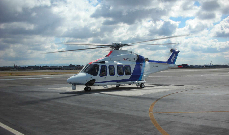 вертолет, agustawestland, aw, oblaka, нравится,