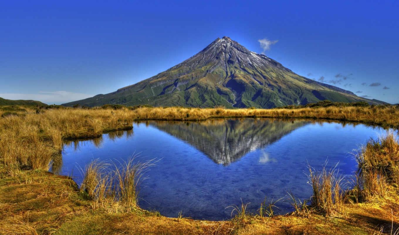 вулкан, таранаки, reflections, shaunthomason, эгмонт, pouakai, tarn, пейзаж, contests,
