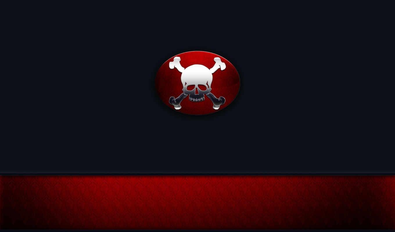 skull, скелетон, красный,