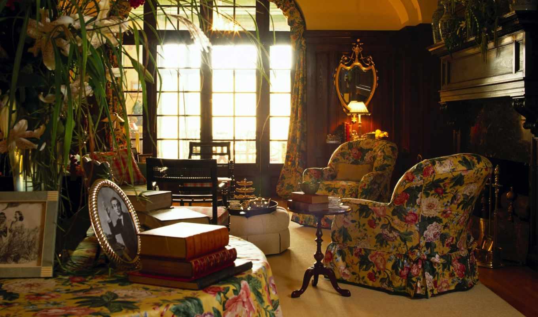 стиль, английский, интерьер, стиле, комната,кресла,
