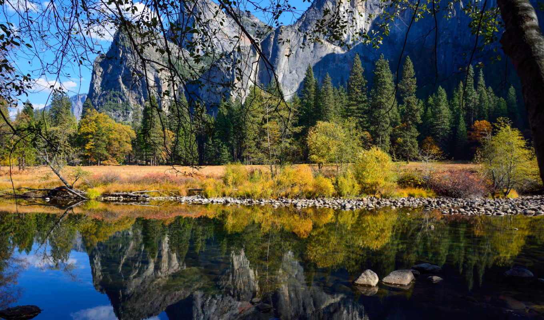 природа, usa, калифорния, картинка, yosemite, landscape, горы, теги, лес, design,
