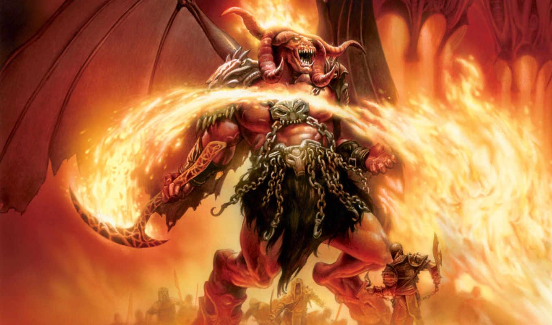 демон, демоны, огня, огненные, картинку, ada,