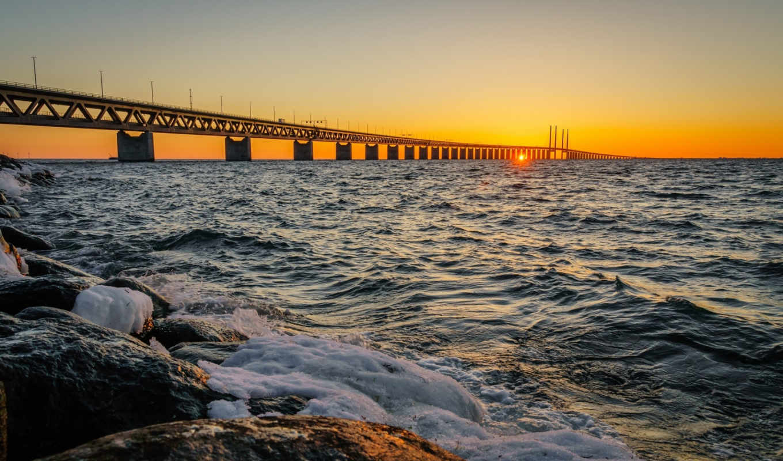 мост, oresund, пролив,