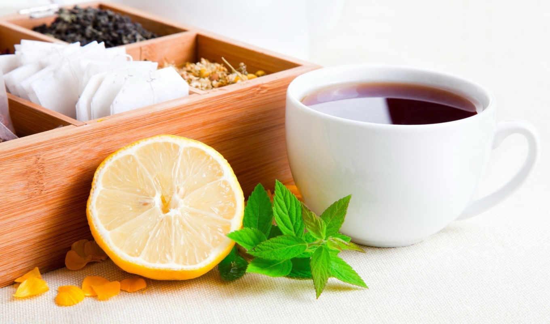 tee, чай, der, еда, zitrone, schweien,
