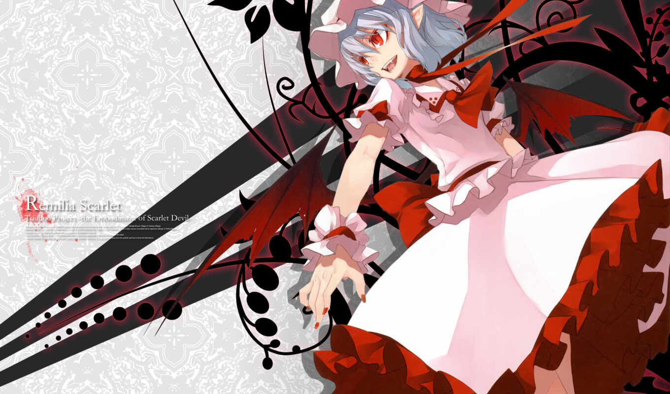 touhou, remilia, anime, ½project, scarlet, collection, copyright,