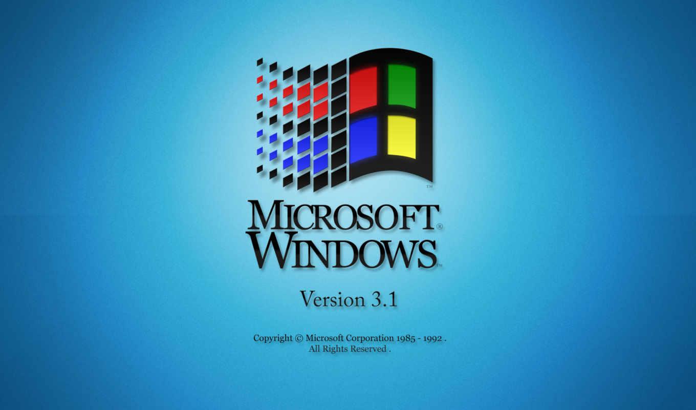 windows, 3.1, лого