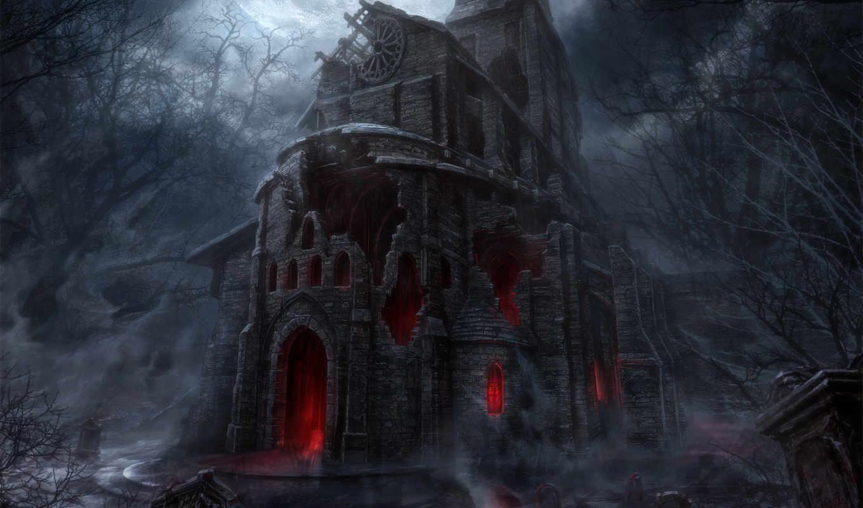 diablo, свечение, развалины, церковь, игры, смотрите, games, iii, похожие, ò³,