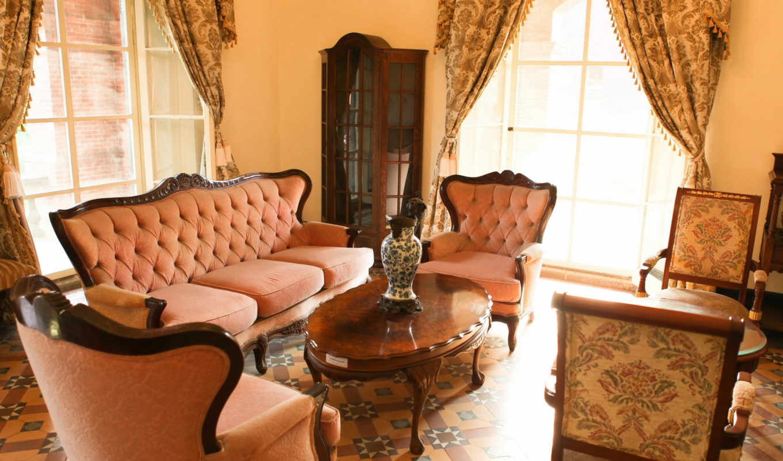 комната, ваза, диван, интерьер, стиль, кресла, dekor, изящный, картинка, столик, sxga, ваше, картинку, www, piicss,