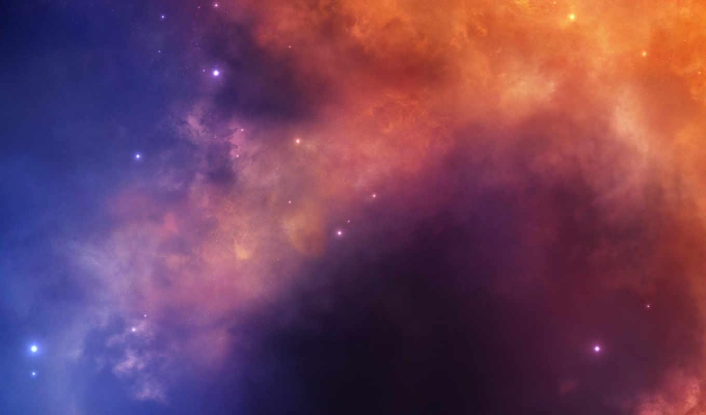 звезды, туманность, universe, картинка,