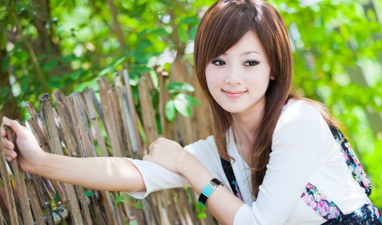 девушка, азиатка, улыбка, забор, за, nevseoboi, японка,