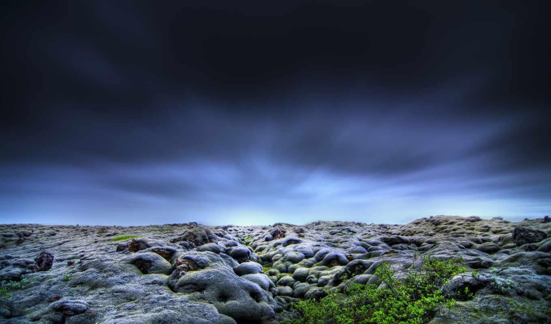 горизонт, дек, только, природа, красивые, деревя, камни, dark, категории,