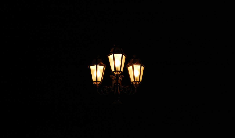 фонари, свет, ночь, картинка, смотрите,