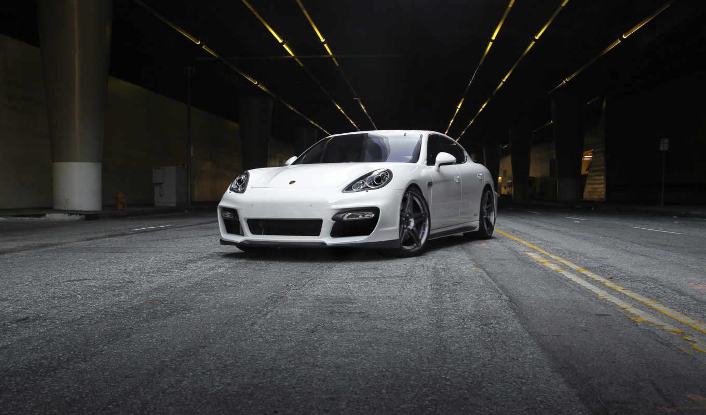 картинку, белый, автомобили, авто, машины, porsche, vorsteiner, порше, panamera,