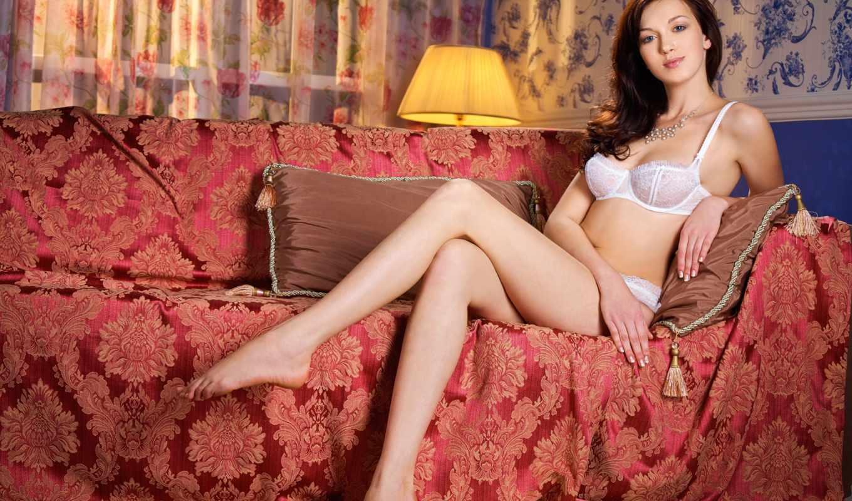 ,lingerie, диван, девушки, белое белье, секси,