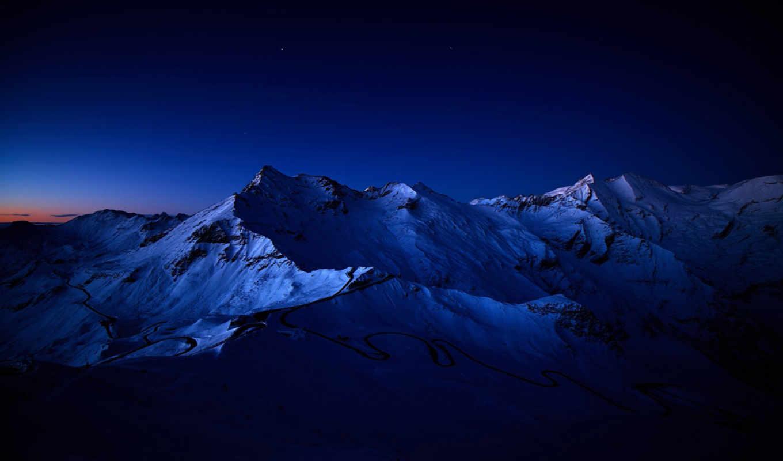 горы, ночь, ночью, природа, фоны,