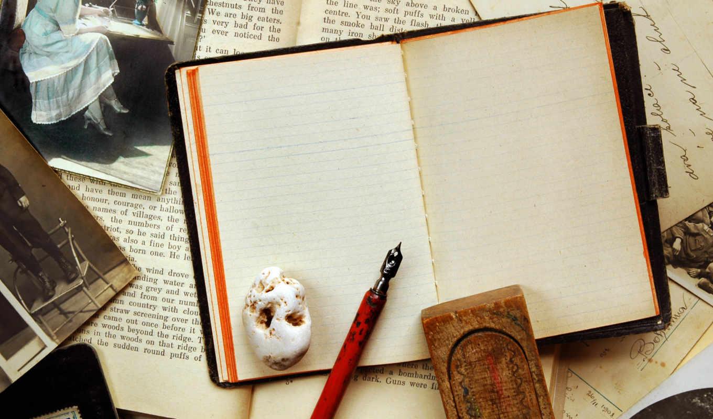vintage, блокнот, ретро, фотографий, ручка, sepia,