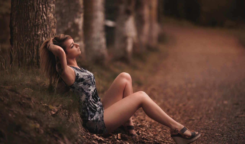 девушка, босоножки, anon, песочница, дольки, природа, country, тематика, stonado, лес
