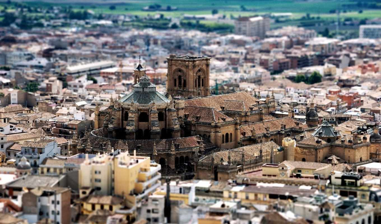 испания, просмотреть, марта, замок, город, городские, пейзажи,