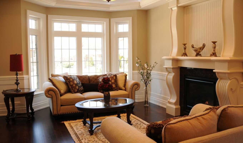 камин, гостиная, интерьер, диван, гостиной, комната, гостинная, столик,