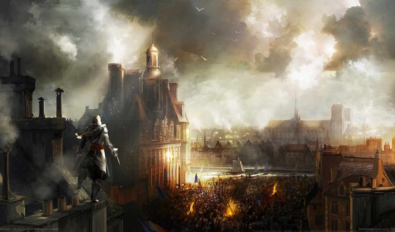 creed, assassin, unity, французской, революции,