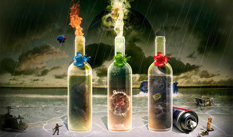 бутылки, дух