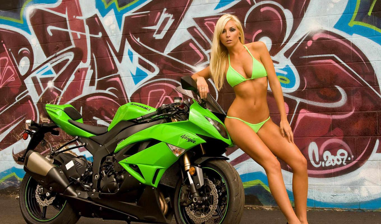 girls, мото, мотоцыкл, девушка, мотоцыкле, tashia, blondes, kawasaki, heels, high, bikini, women, legs, graffiti, with, người, nóng, sexy, bikes, you,