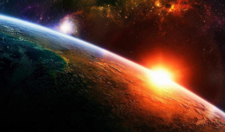 солнце, земля, космос, картинка, ipad, свет, планета, звезды, лучи, горизонтали, вертикали, имеет, who, nature, doctor, бесплатные, абдул, джаббар, you, мухаммад, tv,