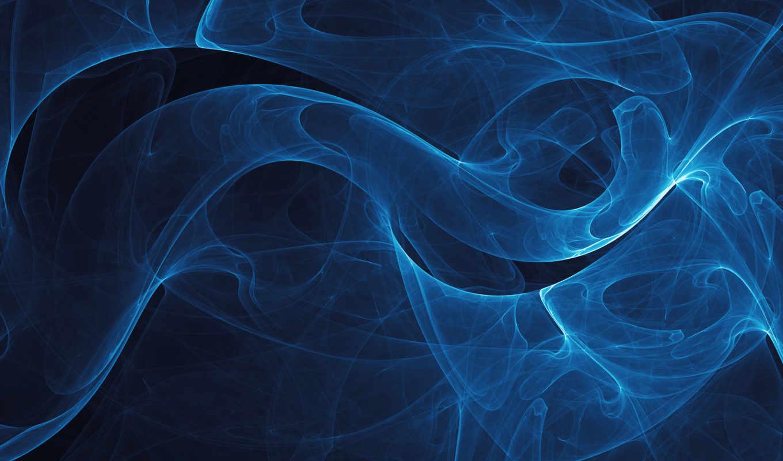 голубая, infinity, дымка, линии, blue, vladstudio, черный, синие, abstract, абстракции,