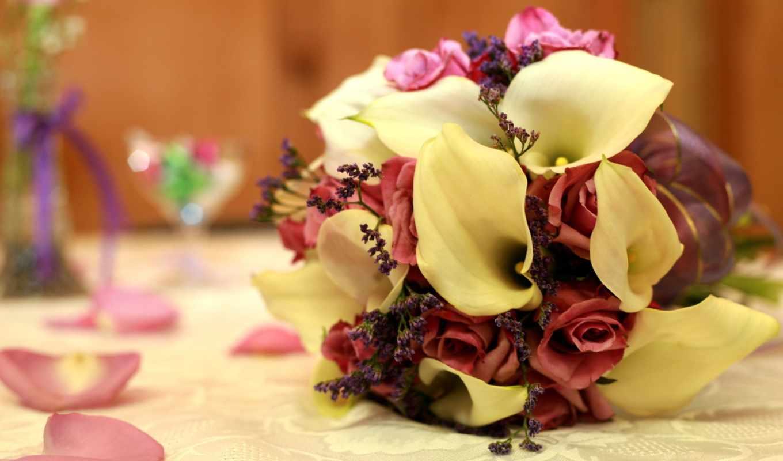 свадебный, свадебные, невесты, букеты, то,