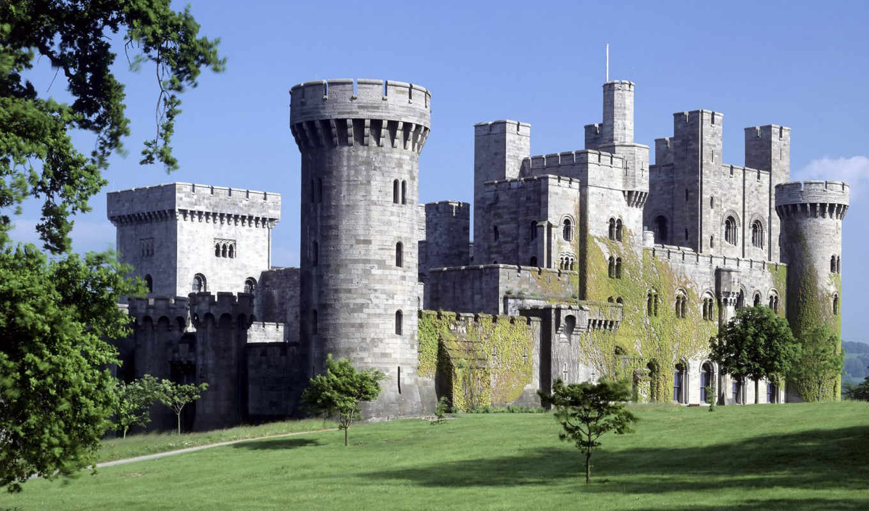 castle, замки, kale, фоны, castles, folding, мира, with, stone, historical, penrhyn,