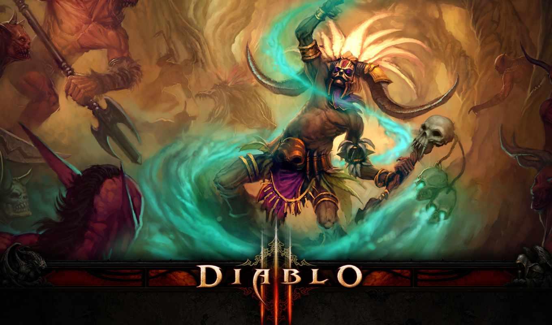 diablo, iii, картинка, картинку, witch, doctor, видеоигры,
