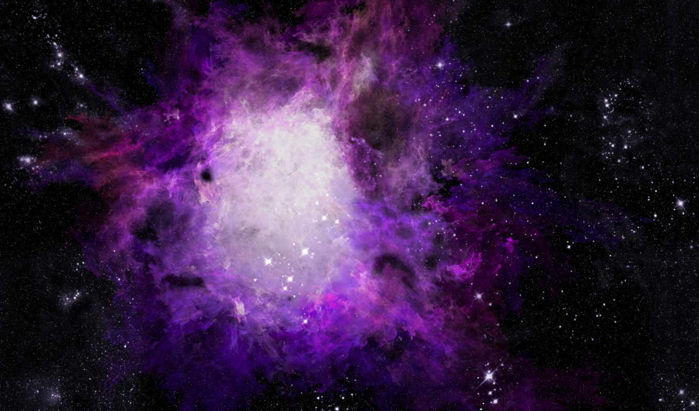 космос, nebula, звезды,