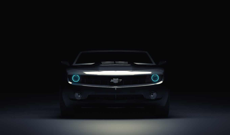 car, muscle, camaro, chevrolet, картинка, свет, фронтовой, blue,