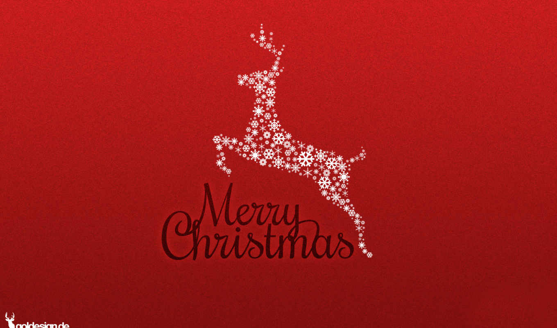 лань, год, new, снежинок, christmas, картинка, минимализм,