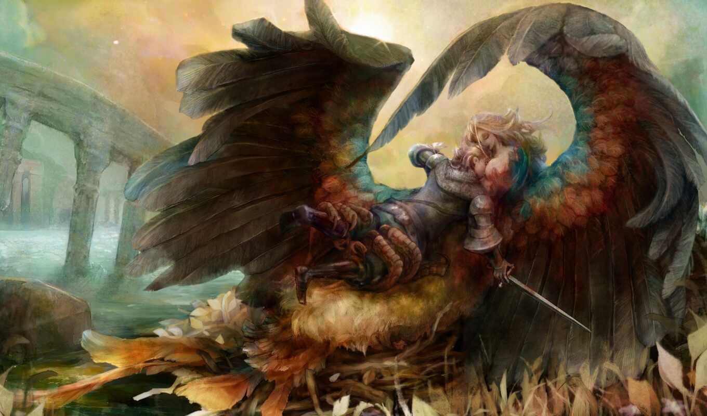 ворона, дракон, птица