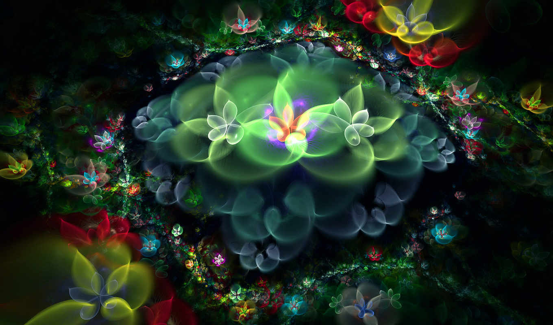 abstract, art, flowers, цветы, fractal, digital,