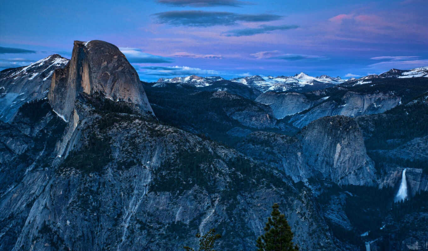 yosemite, national, park, dome, half, valley, photos,