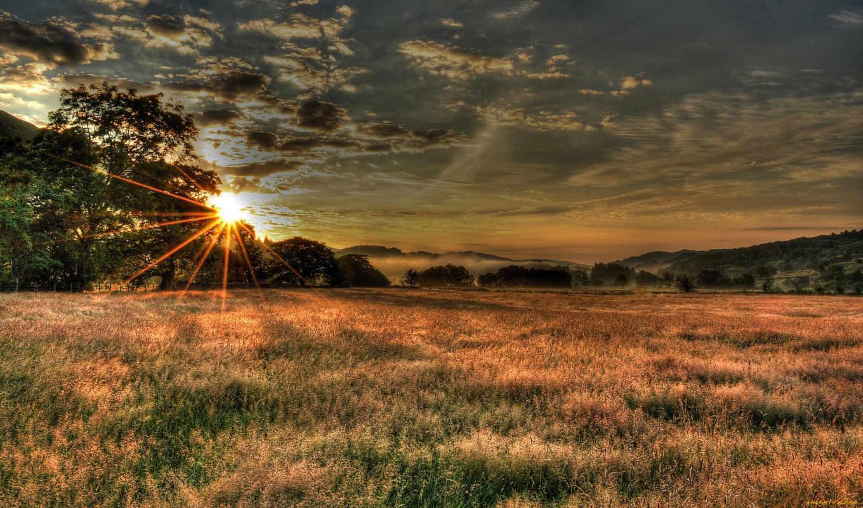 небо, природа, облака, закат, sun,