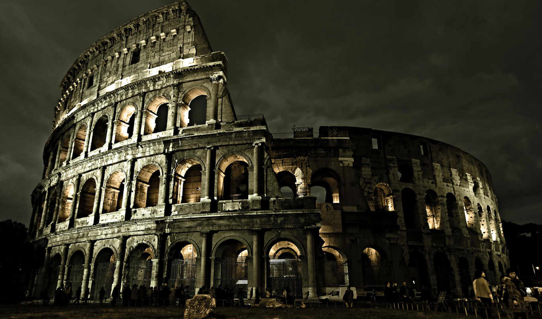 coliseum, italy, рим, колизей, architecture,