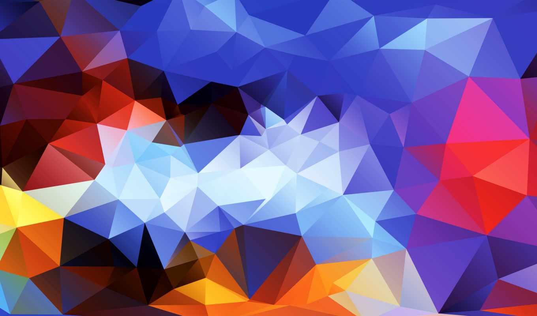 Обои Цвет, абстракция, треугольник. Абстракции foto 14