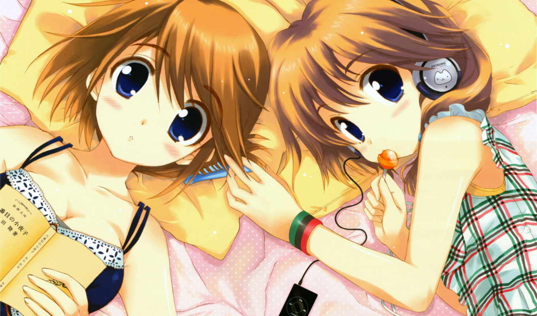 anime, близняшки, you, though, нас,