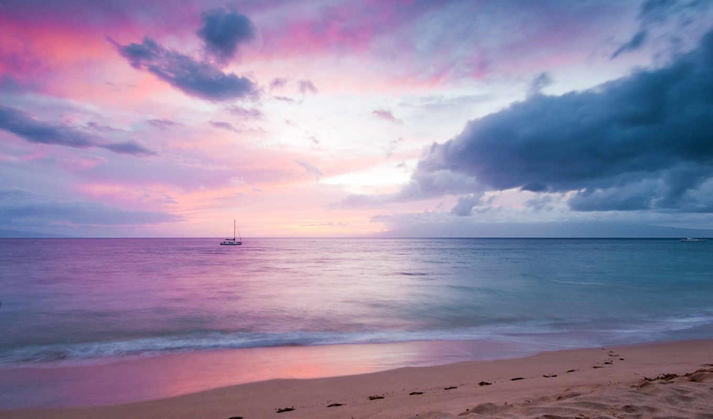 море, пляж, страница,