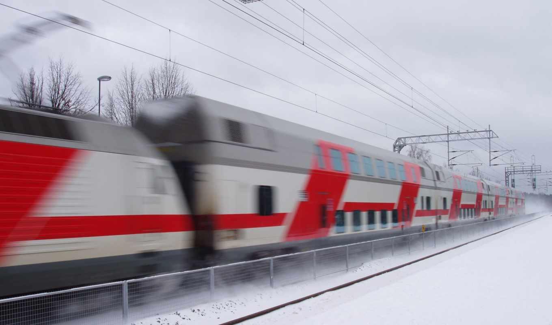 поезд, поезда, winter, скорость, зимой, забор, железная, дорога,