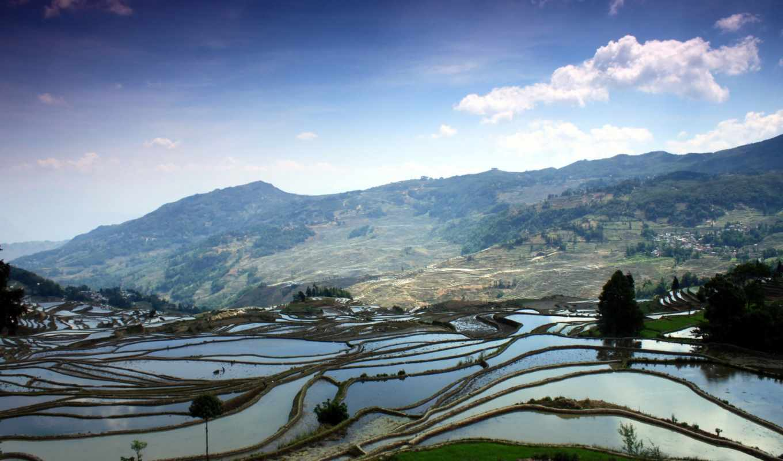 терасса, farming, китаянка, terraces, media, that, chine, widescreen,