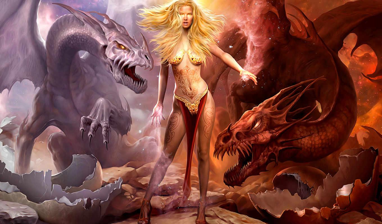 fondos, pantalla, дракон, dragones, dragons, more, guerra, los, see,