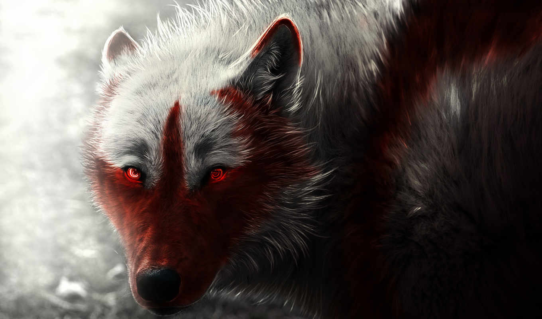 волки, волк, art, scary, zhivotnye, overwatch,