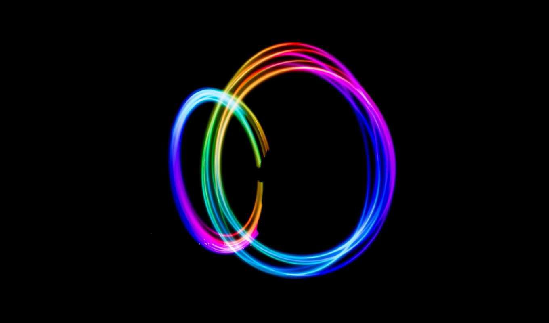 свет, circle, long, exposure, lapse, colorful, black, ночь, радуга, вести