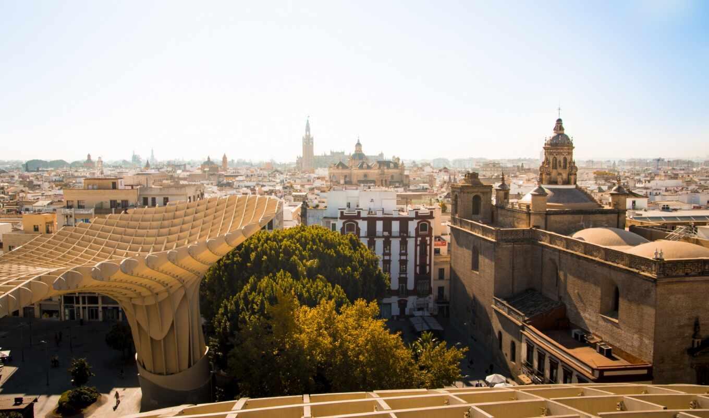 дерево, взгляд, город, building, зелёный, top, фото, ciudad, great, квартира