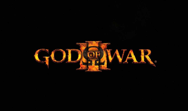 god, war, iii, game, que, logo,