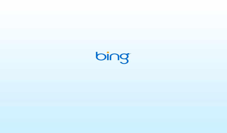bing, logo, white, blue